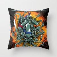 Bay's Alien turtles! Throw Pillow