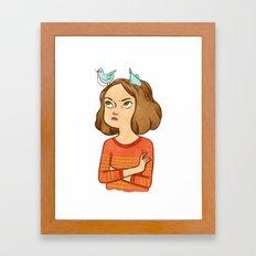 Pájaros en la cabeza  Framed Art Print