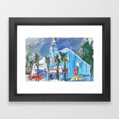 Blue Tower Framed Art Print
