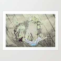 El Gallo Ralph Art Print