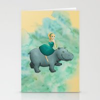 Lovely Hippo Stationery Cards