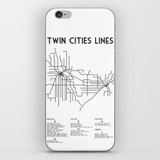 Twin Cities Lines Map iPhone & iPod Skin