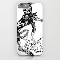 iPhone & iPod Case featuring Fart Skull Flying by happiestfung