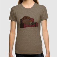 Comfort Food Womens Fitted Tee Tri-Coffee SMALL