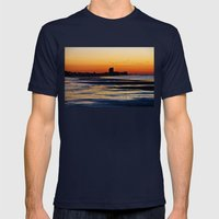 Tranquility Mens Fitted Tee Navy SMALL