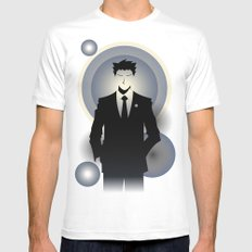 Phoenix Wright - 10th Anniversary Print White Mens Fitted Tee SMALL