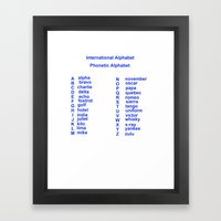 International Alphabet Framed Art Print