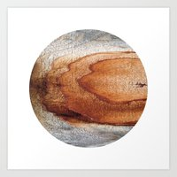 Planetary Bodies - Rust Wood Art Print