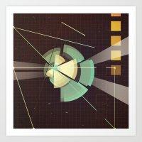 Digital Space Station Art Print