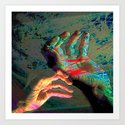 digital art hands Art Print