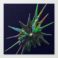 Fractal Splash Canvas Print