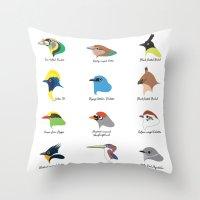 Montane Birds Series 1 Throw Pillow