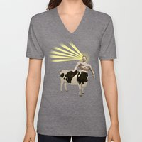 The real muscular cow-boy  Unisex V-Neck