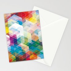 Cuben Curved #3 Geometric Art Print. Stationery Cards