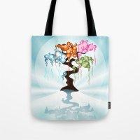 The Four Seasons Bubble Tree Tote Bag