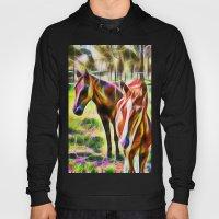 Horses In A Field Hoody