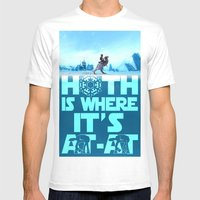 Hoth Is Where It's At-At Mens Fitted Tee White SMALL