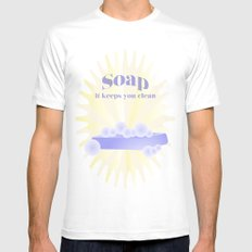 Soap... It Keeps You Clean White Mens Fitted Tee SMALL