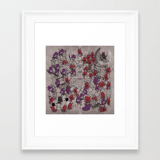 The Great Battle of 1211 Framed Art Print