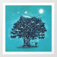Deep Tree Diving  Art Print