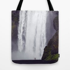 Man Vs. Nature - Skógafoss, Iceland Tote Bag