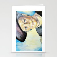 Portrait Of Maggie Smith… Stationery Cards