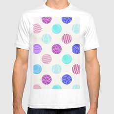 Calm Spots SMALL Mens Fitted Tee White