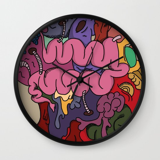 Blood and Guts Wall Clock