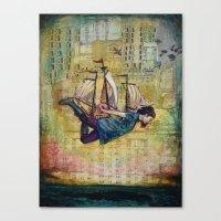 Over Seas Canvas Print