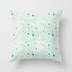 Blue Scribbles Pattern 04 Throw Pillow