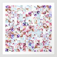 Spring Stitch Art Print