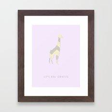 giraffes are cool Framed Art Print