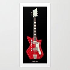 Airline Guitar Art Print