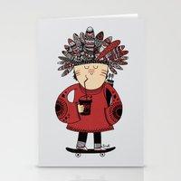 Native American Skater Boy Stationery Cards