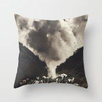 Madeira- Rising Clouds A… Throw Pillow