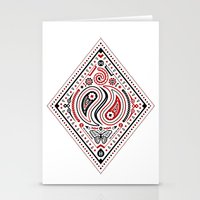 83 Drops - Diamonds (Red & Black) Stationery Cards