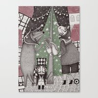 Of Snow And Stars And Ch… Canvas Print