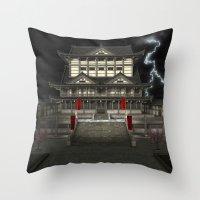 3D Illustration Japanese… Throw Pillow