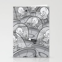 We Come In Peace BW Stationery Cards