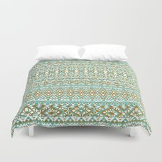 Mint & Gold Tribal Beach Duvet Cover
