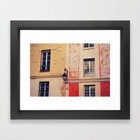 City Scenery Framed Art Print