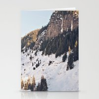Mountain Snow in the Sun Stationery Cards