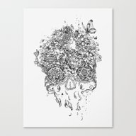 Skull Flower Canvas Print