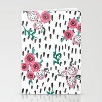 Rose. Illustration, Patt… Stationery Cards