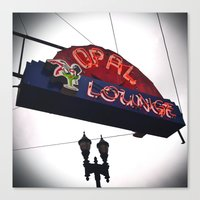 Canvas Print featuring Historic neon sign by Vorona Photography