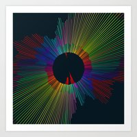 Color Spectrum Spin 1 Art Print