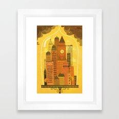 Old Modern Lifestyle Framed Art Print