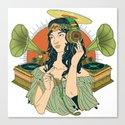 Analog Girl: ANALOG zine entry Canvas Print
