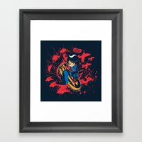 Help Fight Heroism Framed Art Print