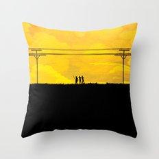 To the prison Throw Pillow